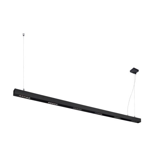 Q-LINE PD, LED beltéri függesztett lámpatest, 2m, BAP, fekete, 3000K