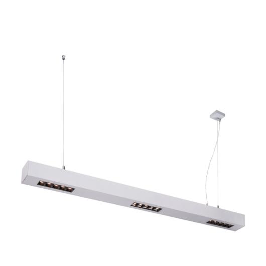 Q-LINE PD, LED beltéri függesztett lámpatest, 1m, BAP, silver, 4000K