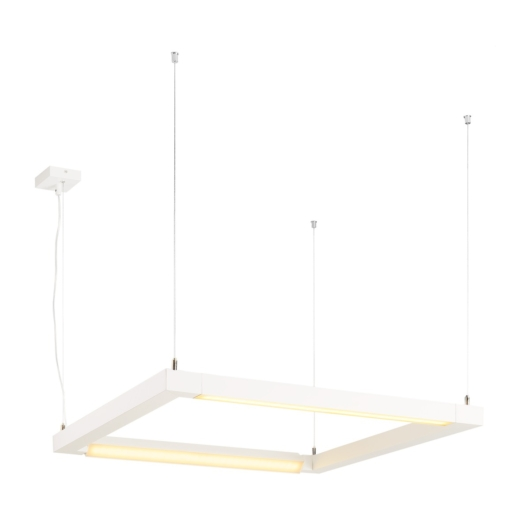 OPEN GRILL LED, double twist függesztett lámpatest, szögletes, fehér
