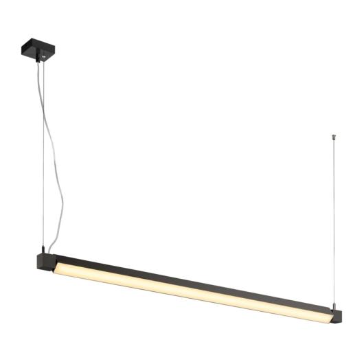 OPEN GRILL LED, szimpla, twist függesztett lámpatest, 1200mm, fekete