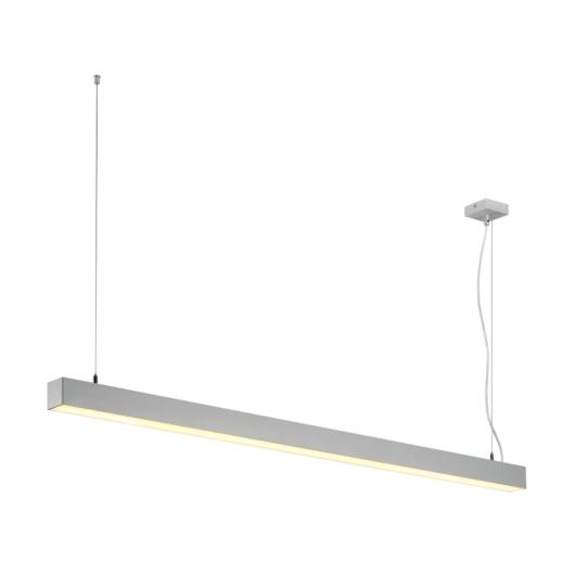Q-LINE SINGLE LED, függesztett lámpatest, 1500mm, silver