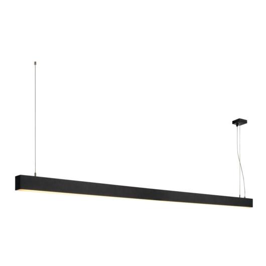 GLENOS függesztett lámpatest, matt fekete, 2m, 103W, 3000K