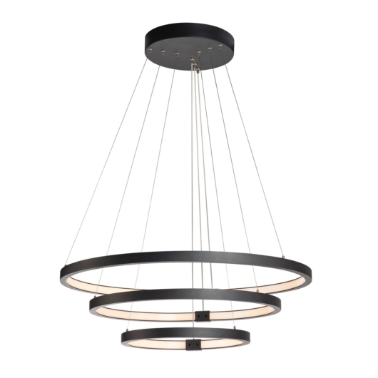 ONE TRIPLE DALI beltéri LED függesztett lámpatest, fekete