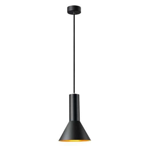 PHELIA 175 E27 beltéri függesztett lámpatest, fekete/arany