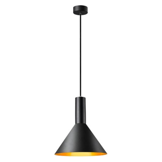 PHELIA 275 E27 beltéri függesztett lámpatest, fekete/arany