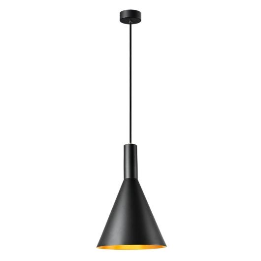 PHELIA 280 E27 beltéri függesztett lámpatest, fekete/arany