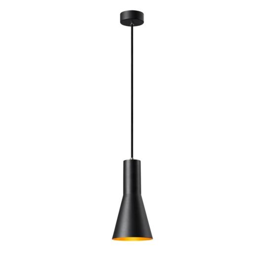 PHELIA 130 E27 beltéri függesztett lámpatest, fekete/arany