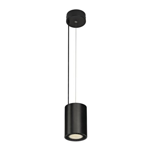 SUPROS PD beltéri LED függesztett lámpatest, kerek, fekete, 4000K, 60° reflector, CRI90, 2700lm
