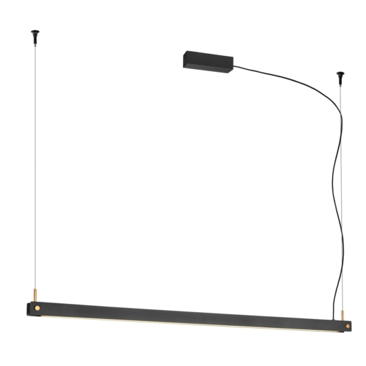 NOYA PD PHASE, beltéri LED függesztett lámpatest, fekete CCT kapcsolóval 2700/3000K