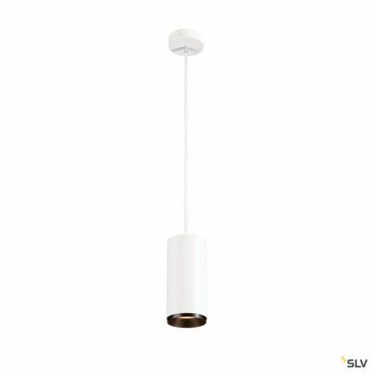 NUMINOS PD PHASE L, beltéri LED függesztett lámpatest, fehér/fekete 2700K 24°
