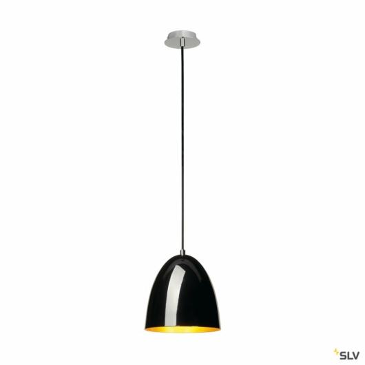 PARA CONE 20 függesztett lámpatest, kerek, fekete/arany, E27, max. 60W
