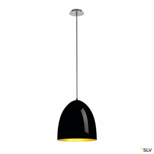 PARA CONE 30 függesztett lámpatest, kerek, fekete/arany, E27, max. 60W