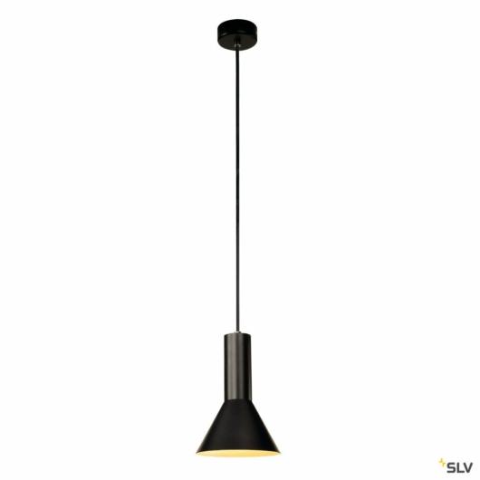PHELIA S függesztett lámpatest, fekete, E27, max. 23W