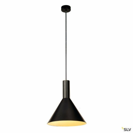 PHELIA M függesztett lámpatest, fekete, E27, max. 23W