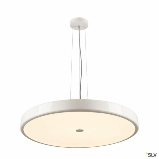 SPHERA, függesztett lámpatest, LED, 2700K, kerek, fehér, matt akril, D= 75cm