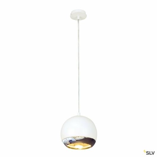 LIGHT EYE függesztett lámpatest, fehér/króm, GU10, max. 75W