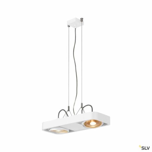 AIXLIGHT R2 DUO LED GU10, QPAR111, függesztett lámpatest, félköríves, fehér